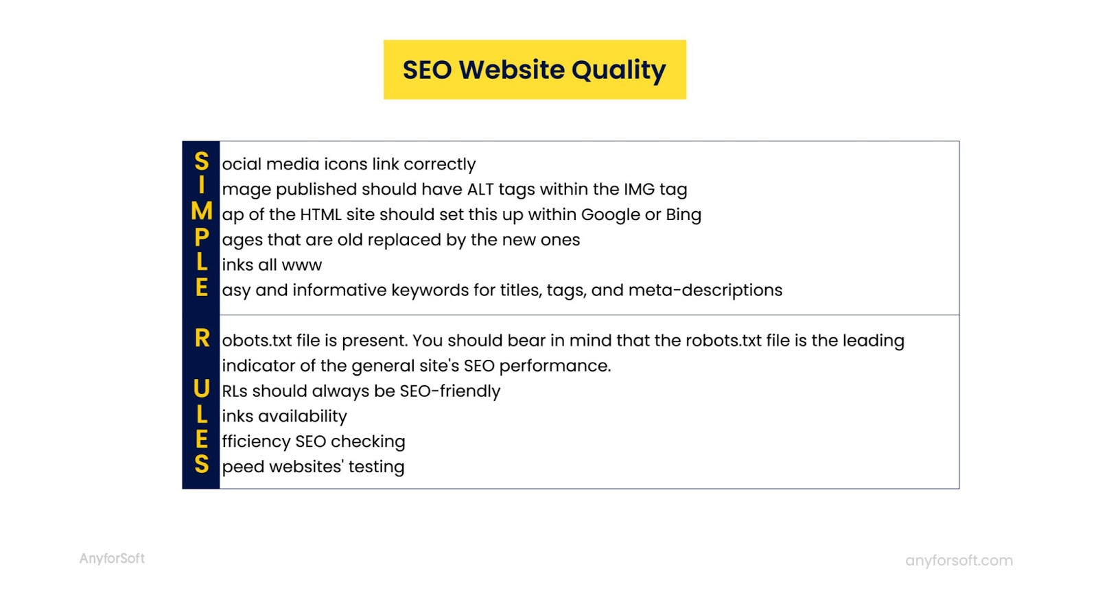 seo optimization quality