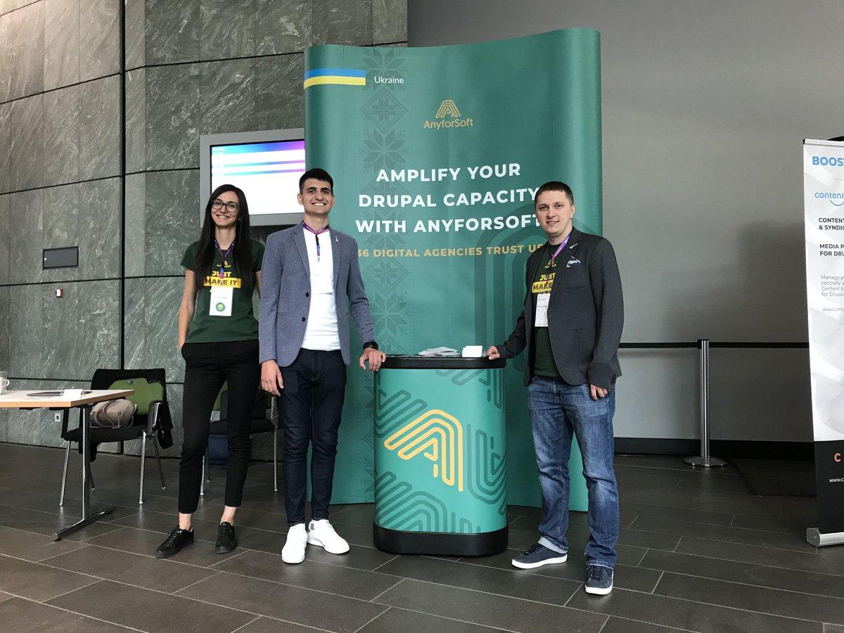 Anyforsoft team at Drupal Europe 2018