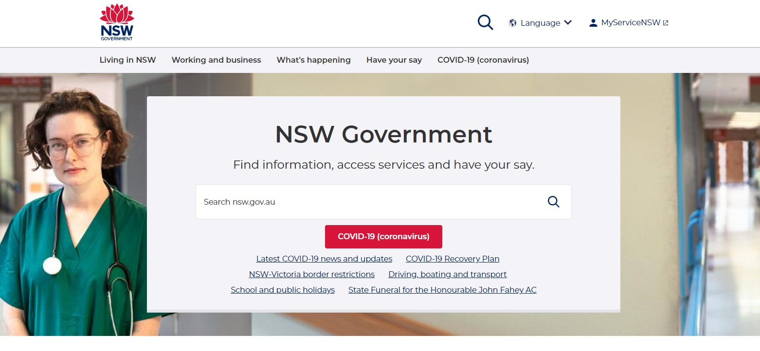 NSW Government website