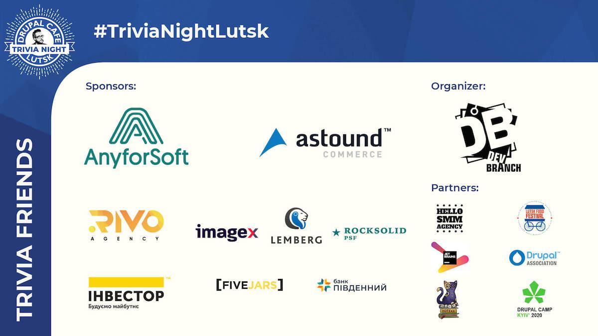 drupal trivia night sponsors