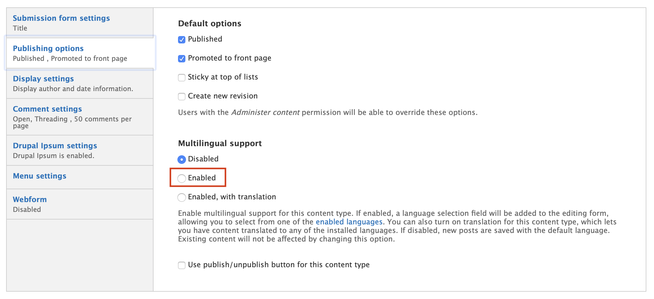 enable multilingual support
