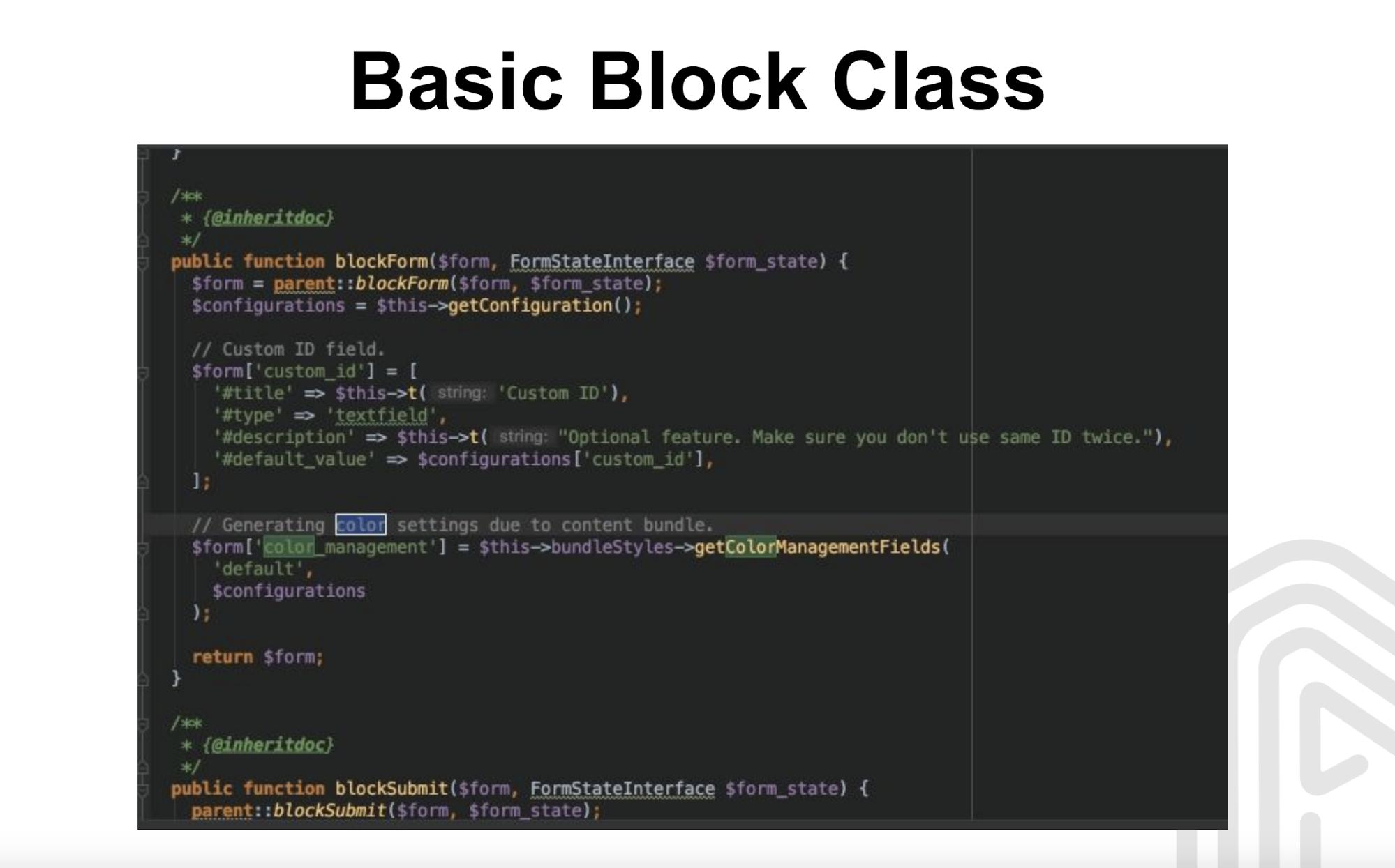 Basic Block Class
