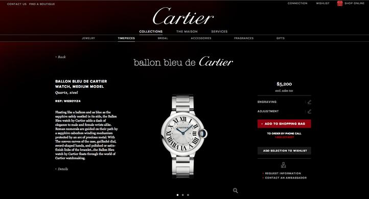 Cartier website