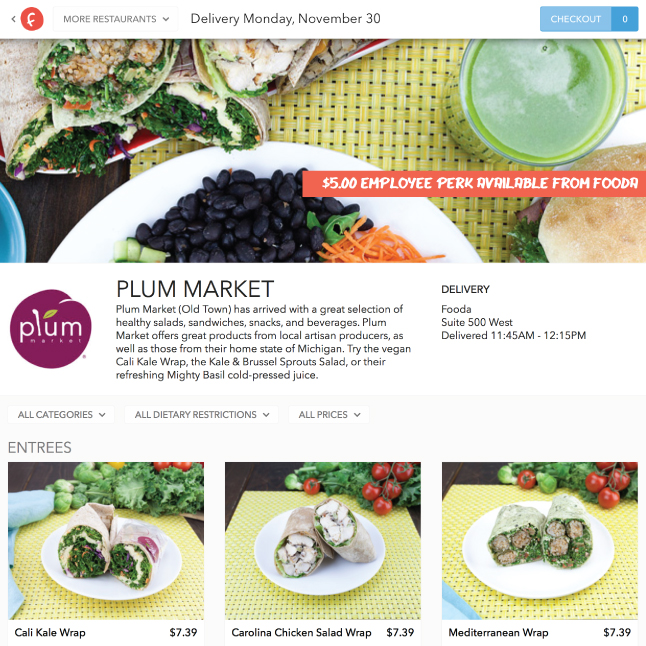 Fooda website