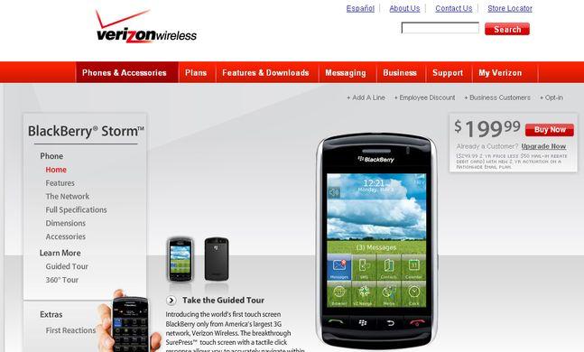 Verizon website