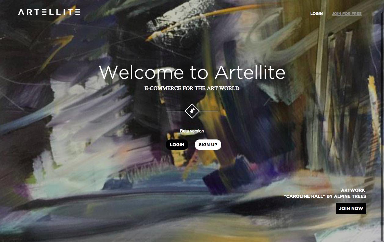 Artellite website
