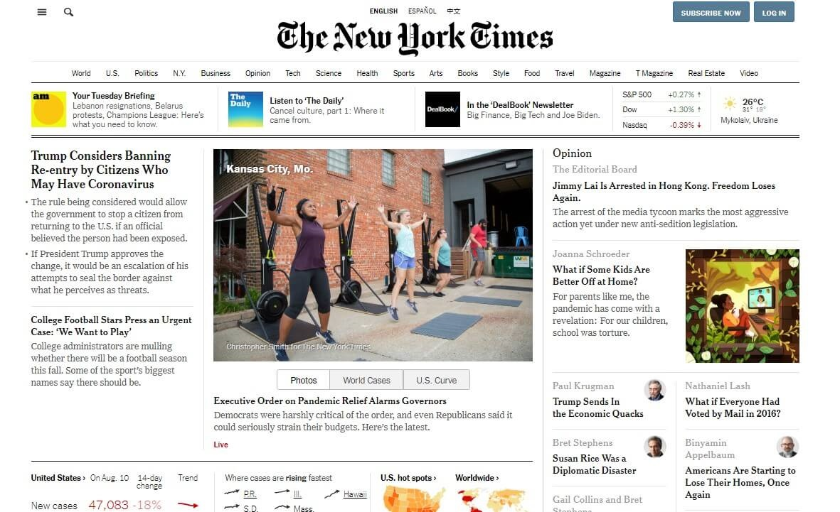 The New York Times design