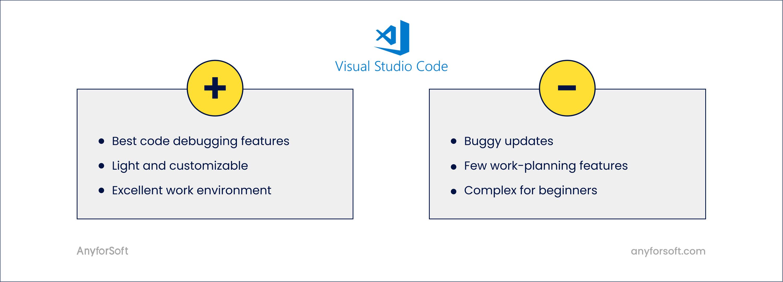 visual studio code javascript ide pros cons